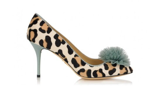 Animal Print Wedding Shoes with Something Blue