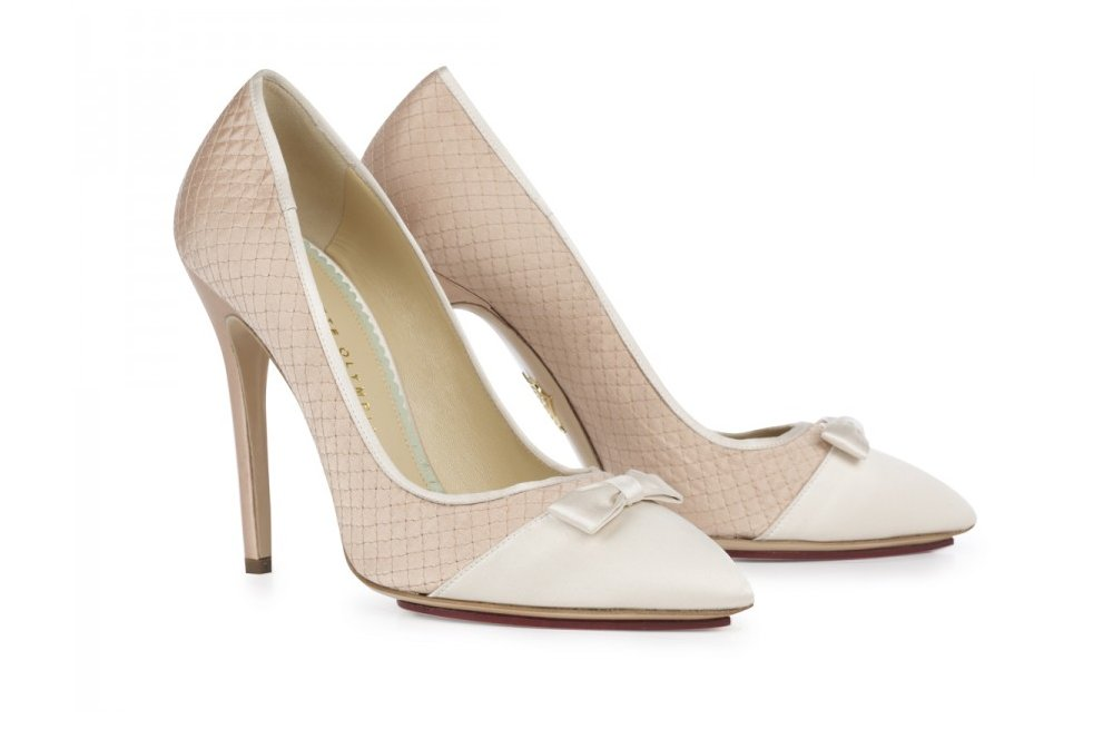Vintage Blush Wedding Shoes