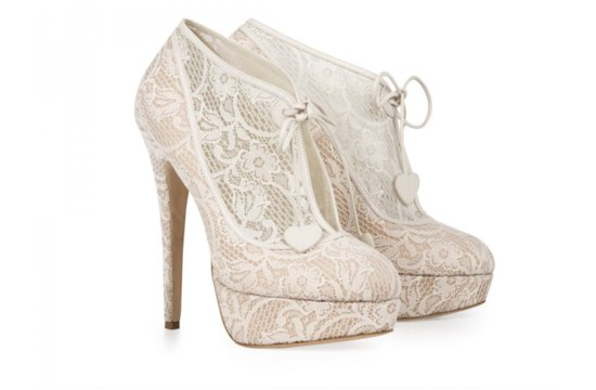 Lace Bridal Booties