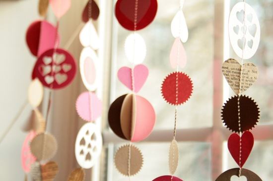 DIY Wedding Garland Romantic Valentines Day Theme