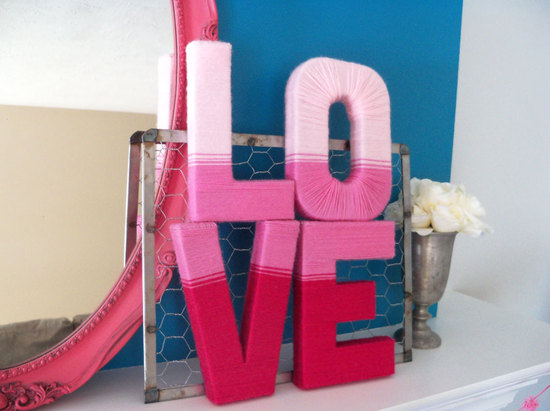DIY LOVE letters for Valentines Day