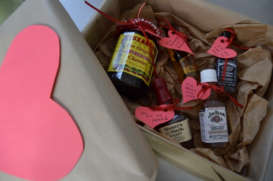 DIY Gift for the Groom Booze and Hearts