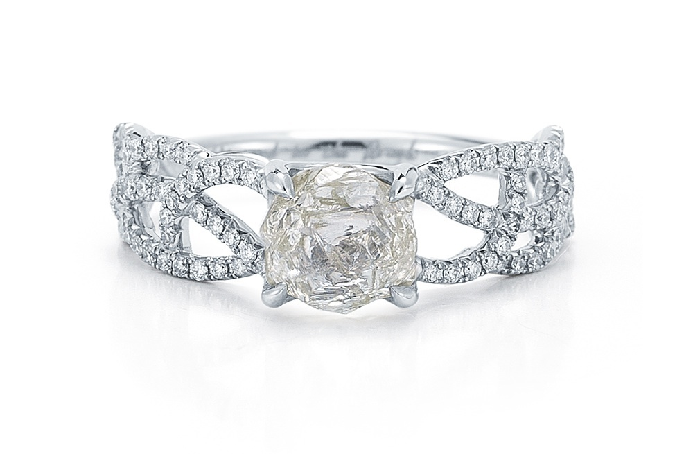 Rough-diamond-engagement-ring-interweaving-band.full