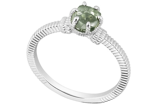 Unique Engagement Ring Diamond In The Rough 3D340 0 91 B