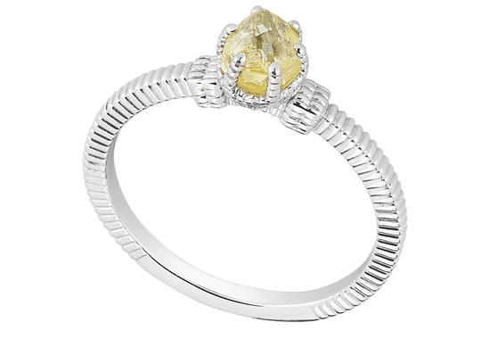 Unique Engagement Ring Diamond In The Rough 3D339 0 79 B