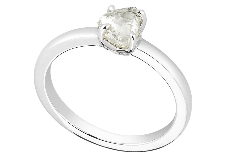 Unique Engagement Ring Diamond In The Rough 3D327 0 88 B