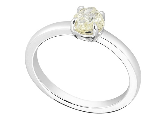 Unique Engagement Ring Diamond In The Rough 3D290 0 81 B