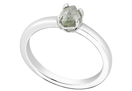 Unique Engagement Ring Diamond In The Rough 3D323 0 80 B