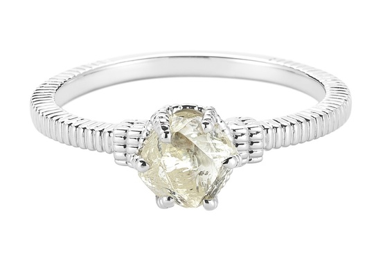 Unique Engagement Ring Diamond In The Rough 3D286 1 09 A
