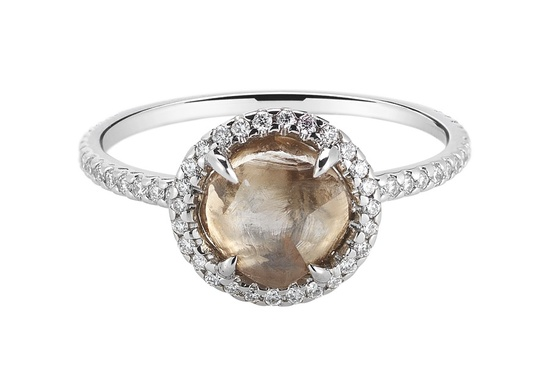 Rough Diamond Engagement Ring 3D045 2 38 A