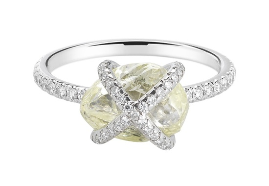 Beautiful Rough Diamond Engagement Ring ORW1020PDPL