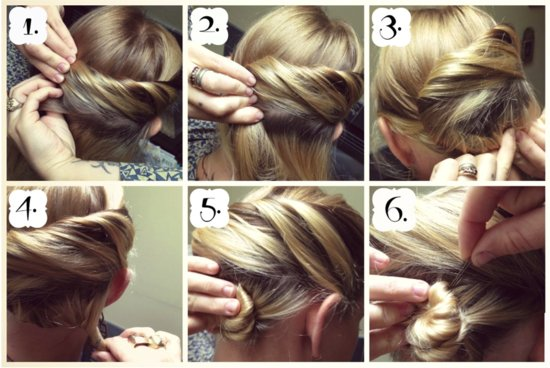 How To hair Girl DIY Wedding Hairstyle Snake Twist Bun 3