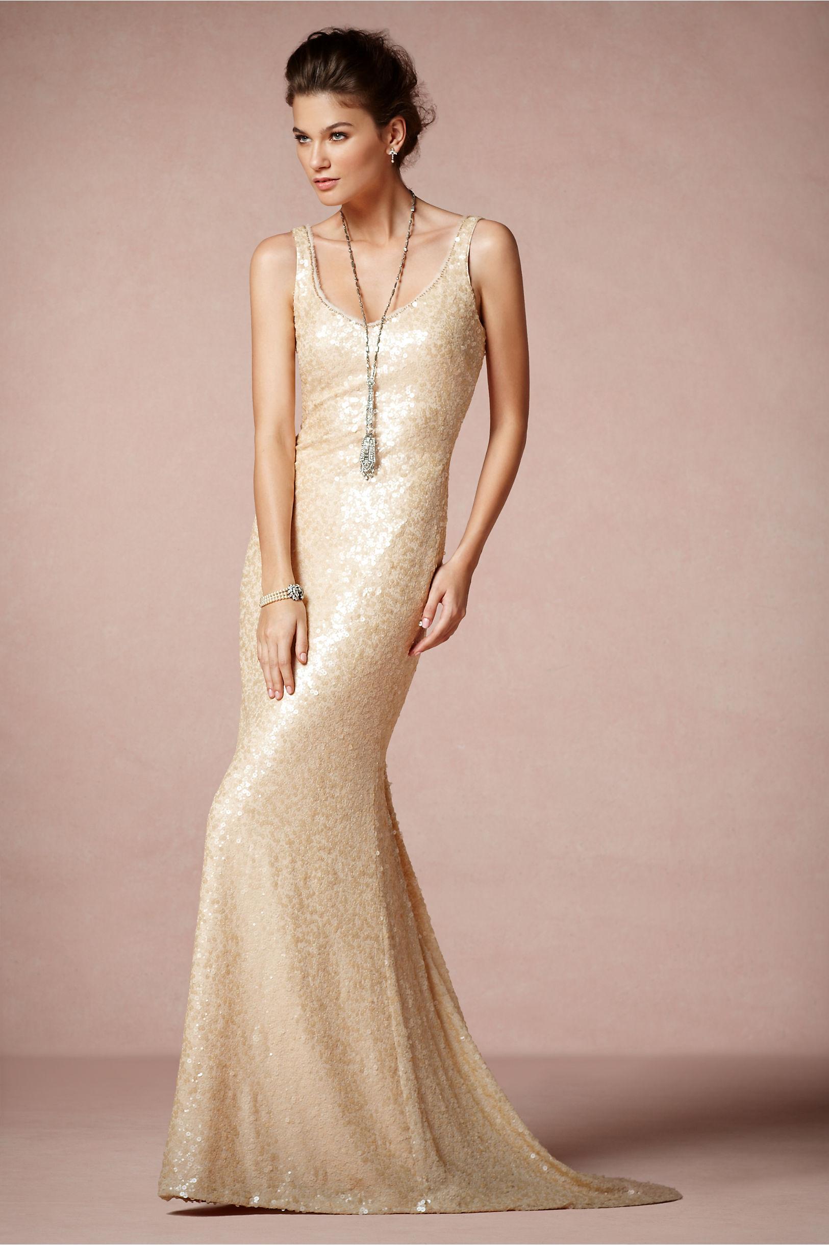 Champagne scoop neck wedding dress for Champagne gold wedding dress