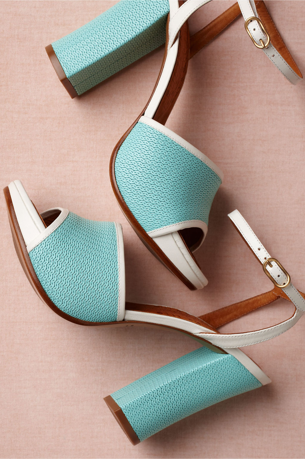 Retro Wedding Shoes Aqua Something Blue