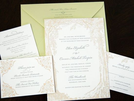 trees wedding invitations