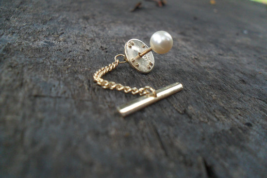 Pearl Tie Pin for the Groom
