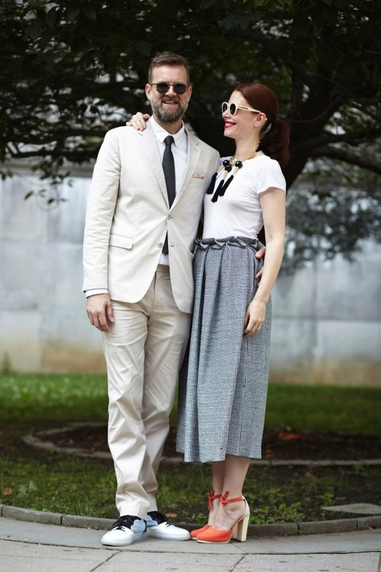 photo of Cool Couple Chic at City Hall