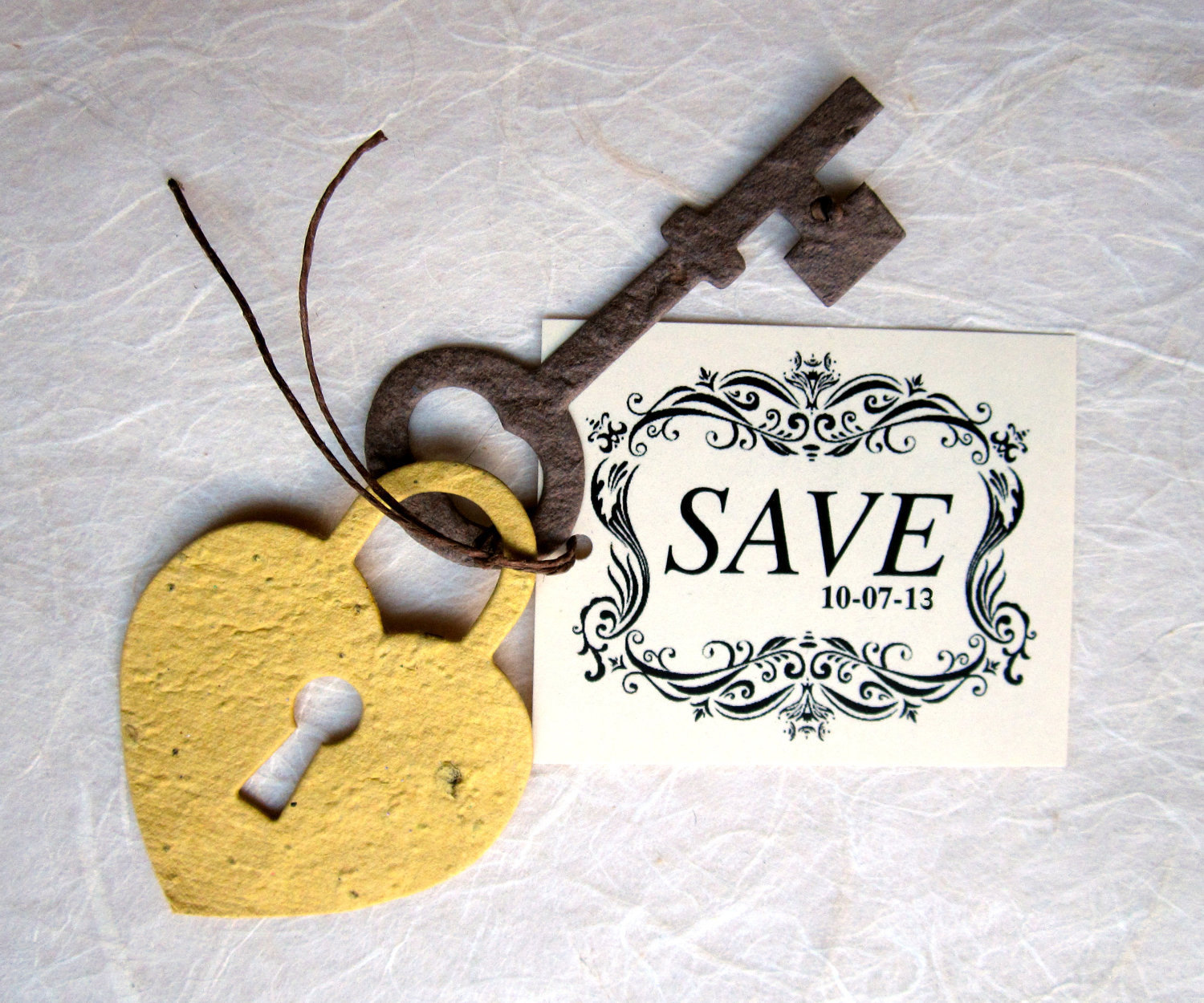 Unique Save the Dates Skeleton Key | OneWed.com