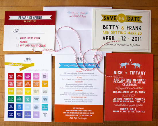 Funky Wedding Invitations DIY Dave the Date