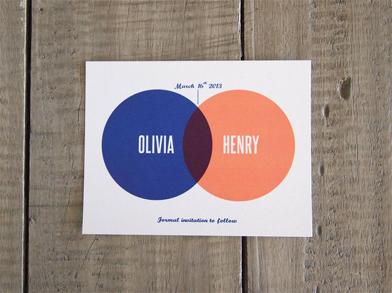 Venn Diagram Wedding Save the Date