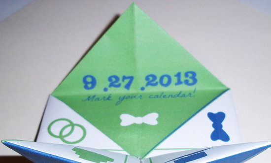 Cootie Catcher Wedding Save the Date