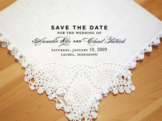 Wedding Hanky Save the Date