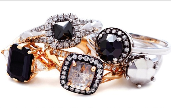 High Fashion Engagement Rings by Anna Sheffield