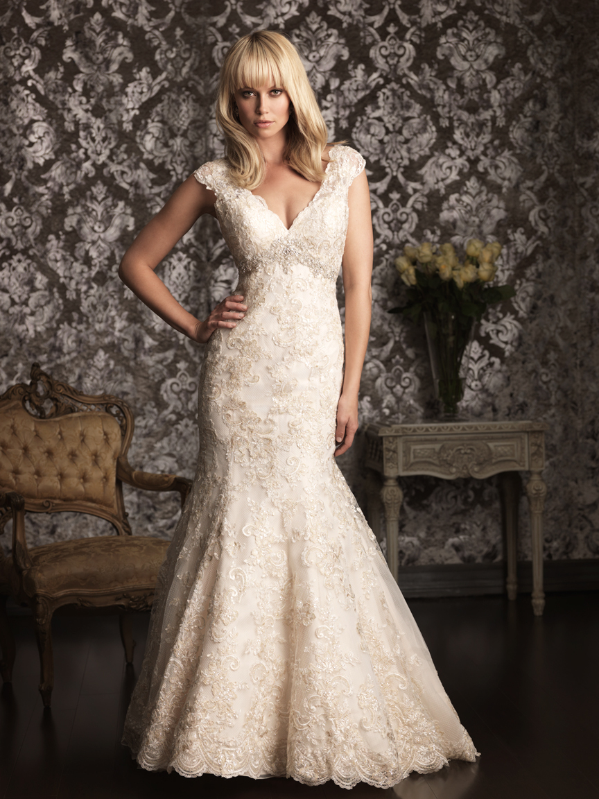 Allure Bridals Wedding Dress Bridal Gown Allure Collection 2013 9005F2