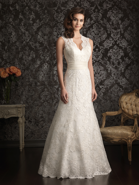 Allure Bridals Wedding Dress Bridal Gown Allure Collection 2013 9013F