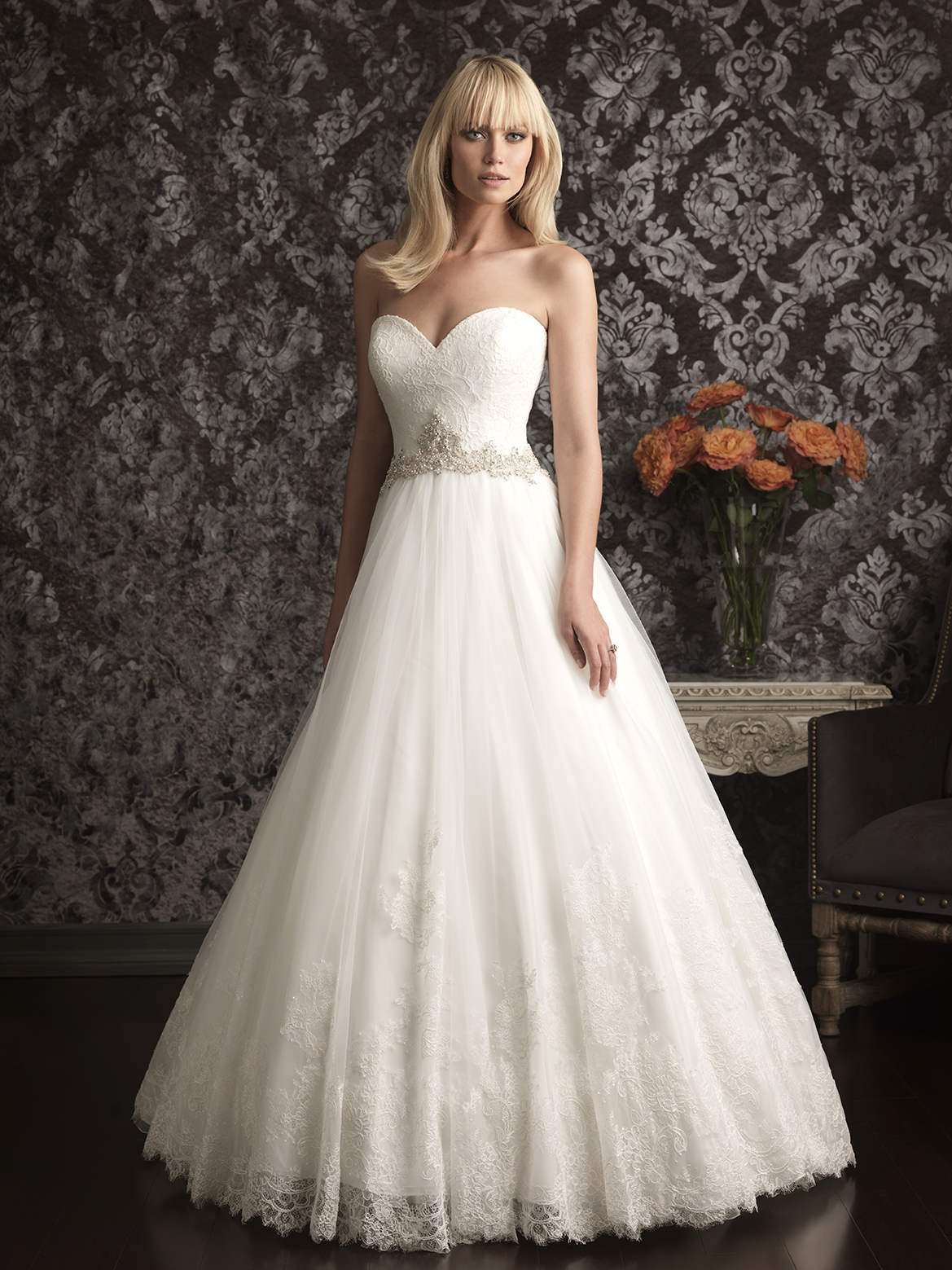 allure bridals wedding dress bridal gown allure collection 2013 9014f. Black Bedroom Furniture Sets. Home Design Ideas