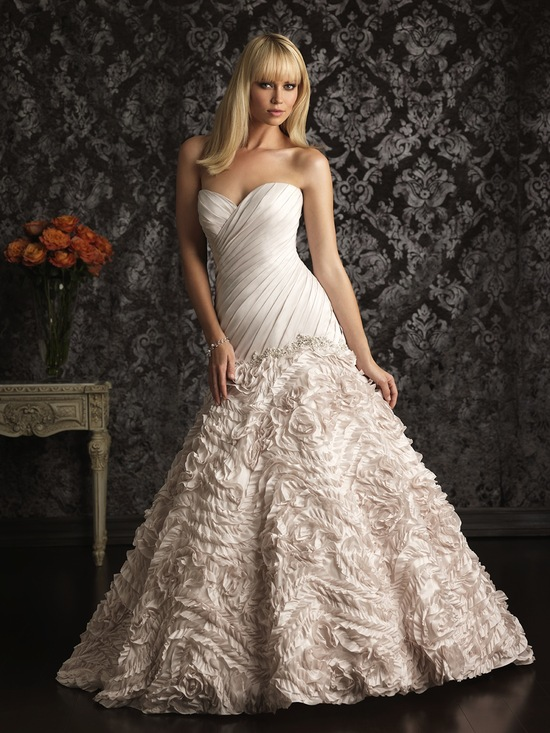 Allure Bridals Wedding Dress Bridal Gown Allure Collection 2013 9015F