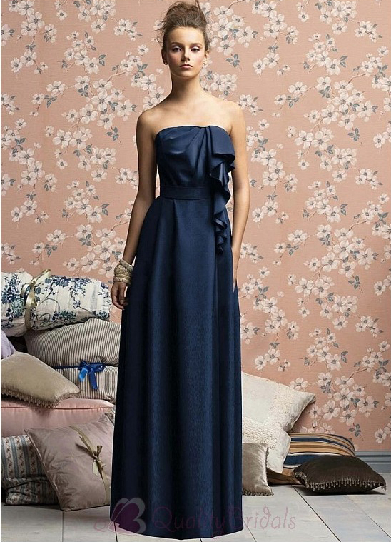 Stunning-Stretch-Satin-Sheath-Strapless-Bridesmaid-Dress-B1519