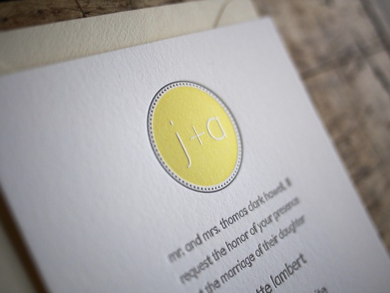 Modern Monogram Letterpress-Knock Out