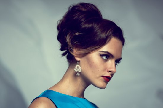 retro updo for bridesmaids
