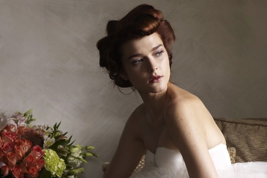 Retro Waved Bridal Updo
