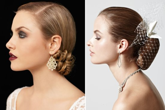 Sleek Bridal Updos Vintage Inspired