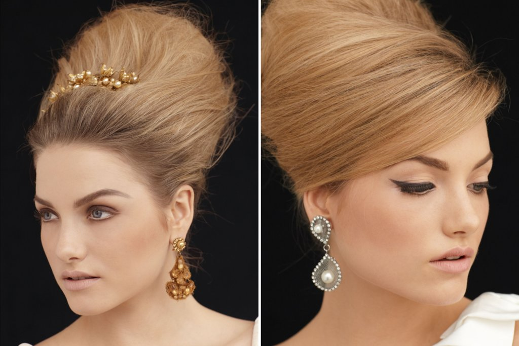 Teased Wedding Updos
