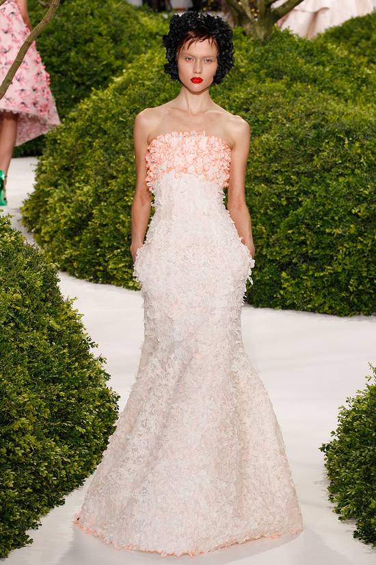 2013 Couture for Wedding Style Inspiration Dior Ruffled Gown