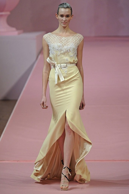 Irridescent Wedding Dress Trends Spring 13 Couture