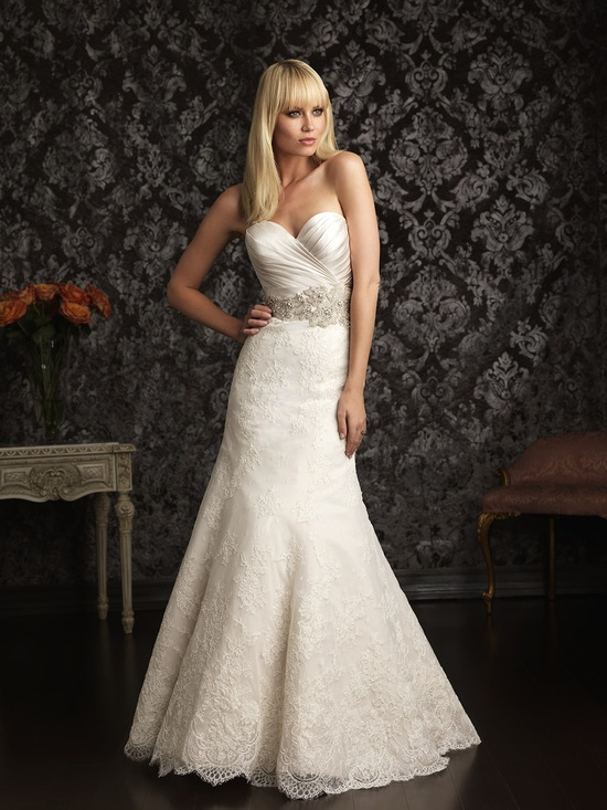 Allure Bridals Wedding Dress Bridal Gown Allure Collection 2013 9004F 2