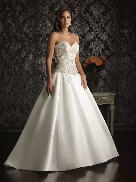 Allure Bridals Wedding Dress Bridal Gown Allure Collection 2013 9009F