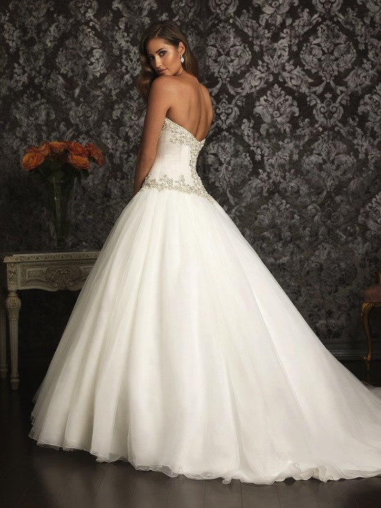 Allure Bridals Wedding Dress Bridal Gown Allure Collection 2013 9017F2