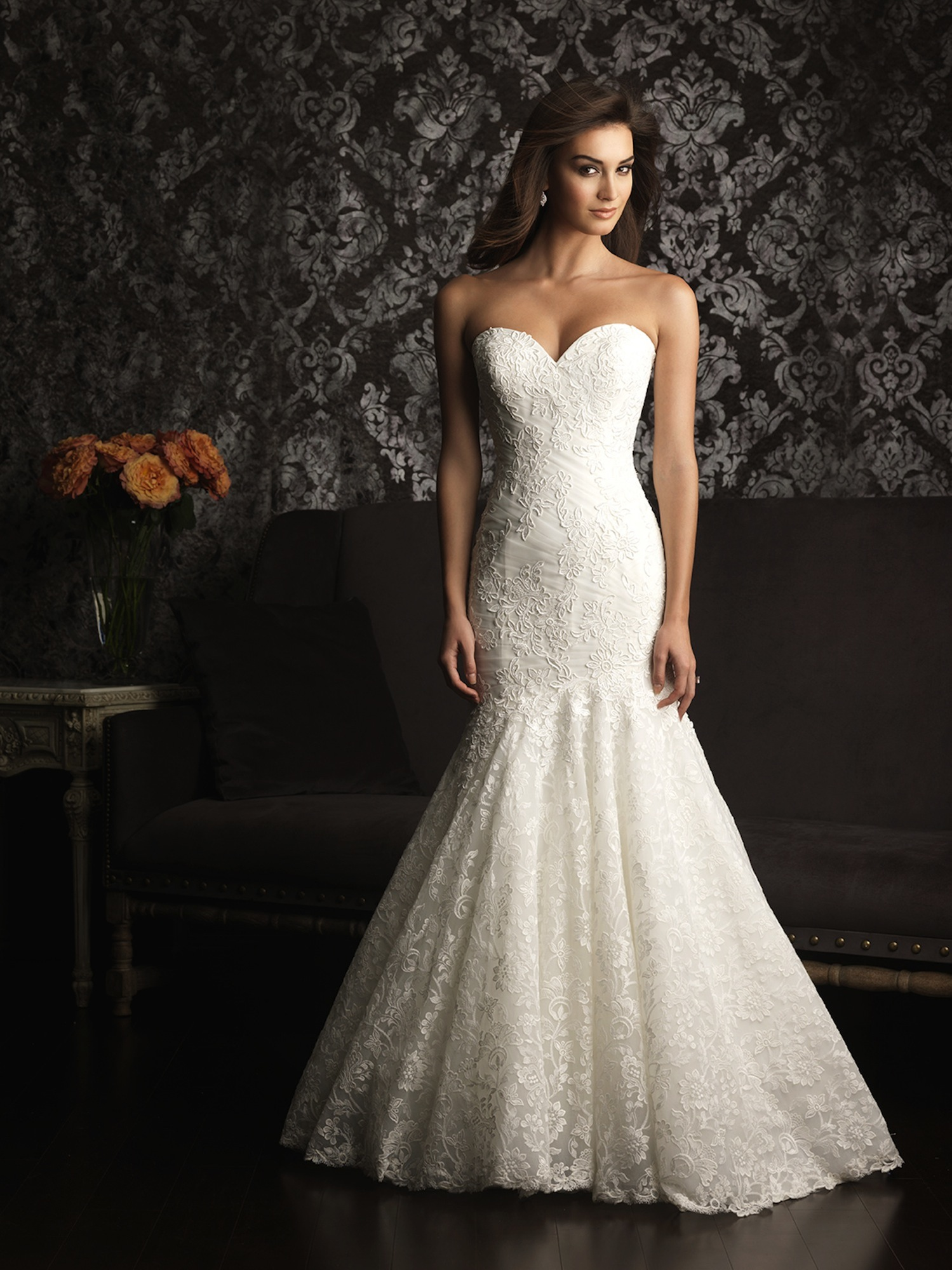 allure bridals wedding dress bridal gown allure collection 2013 9023f. Black Bedroom Furniture Sets. Home Design Ideas