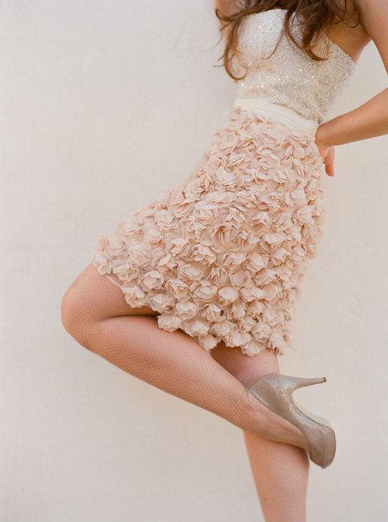 LWD for the wedding reception 2 piece blush Blossom