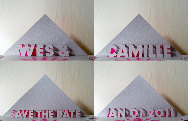 Pop Up Wedding Save the Dates Modern