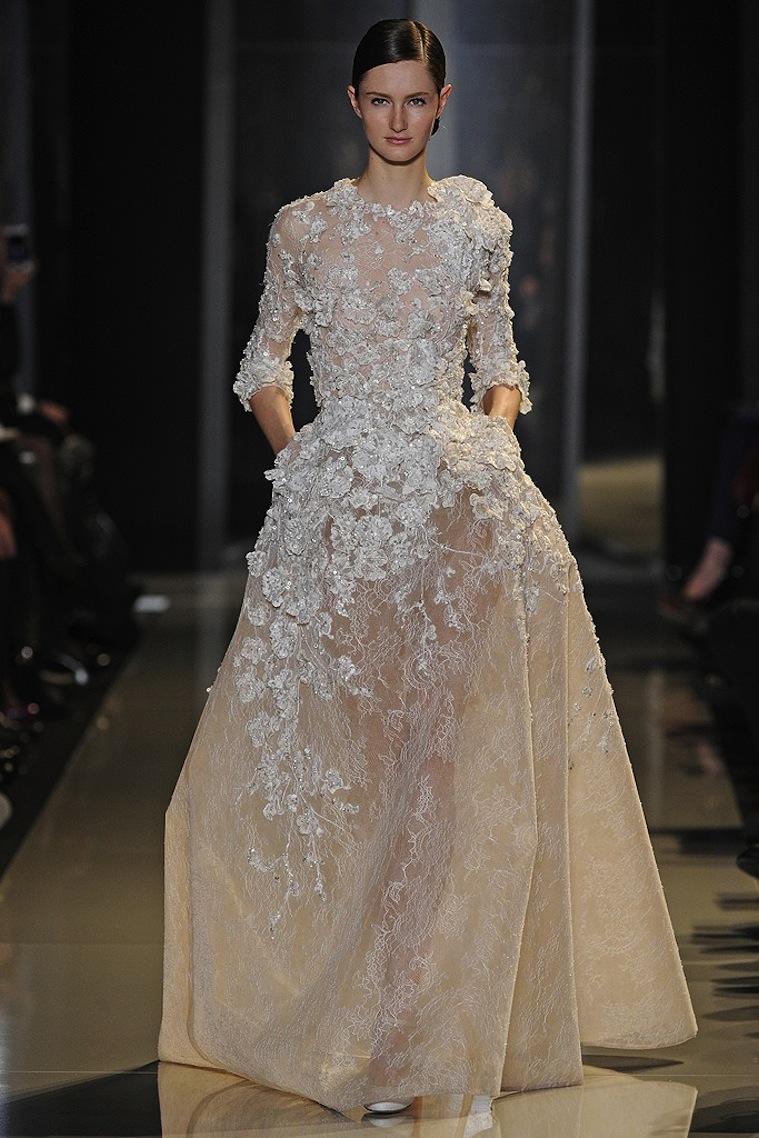 2013 spring couture bridal inspiration elie saab 7 for Elie saab wedding dress 2013