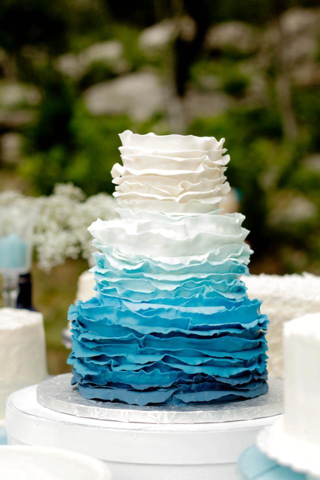 Blue Ruffle Cake 2tarts Onewed Com