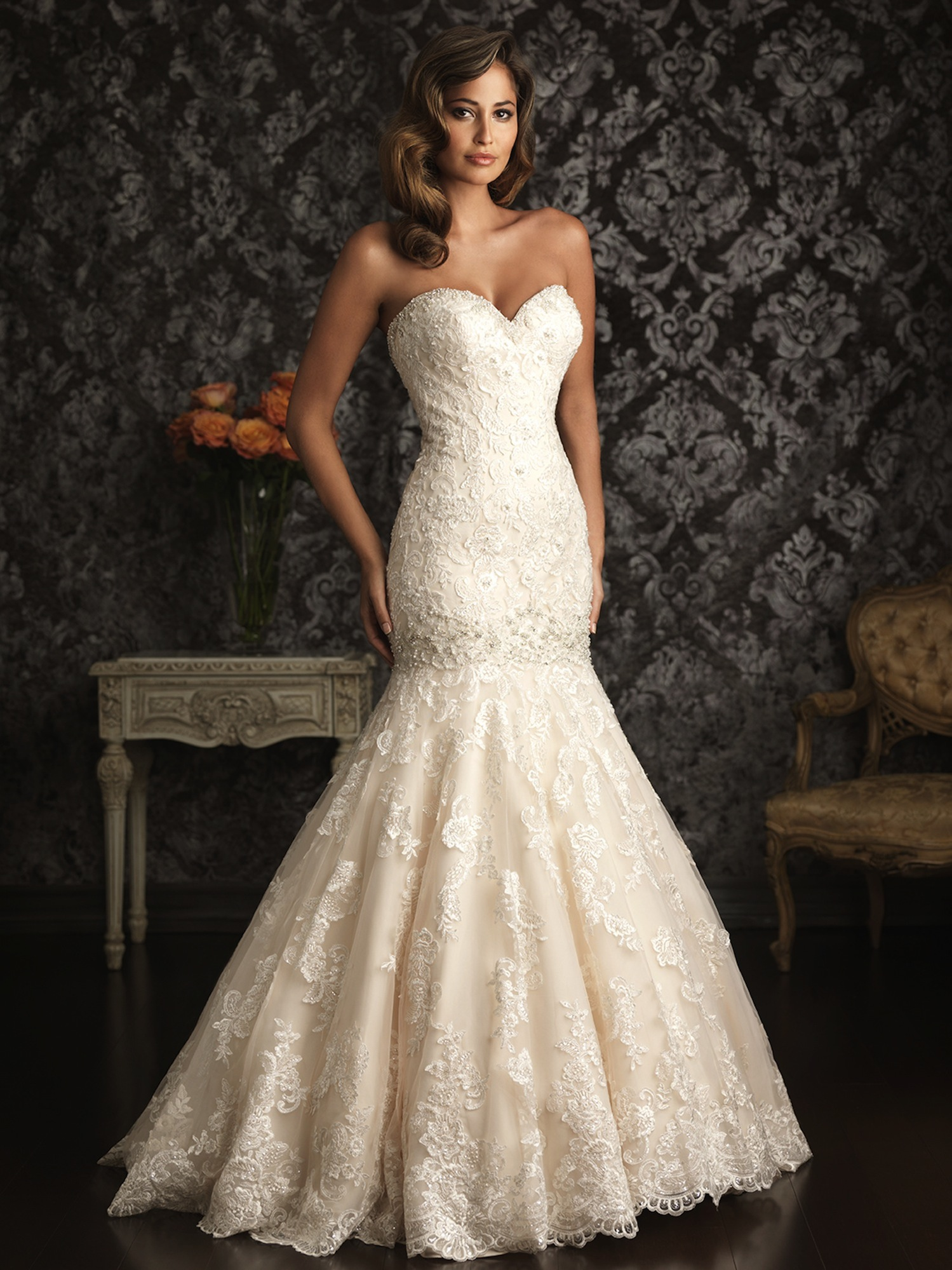 2013 Allure Bridals Wedding Dress Bridal Gown Allure Collection 9018