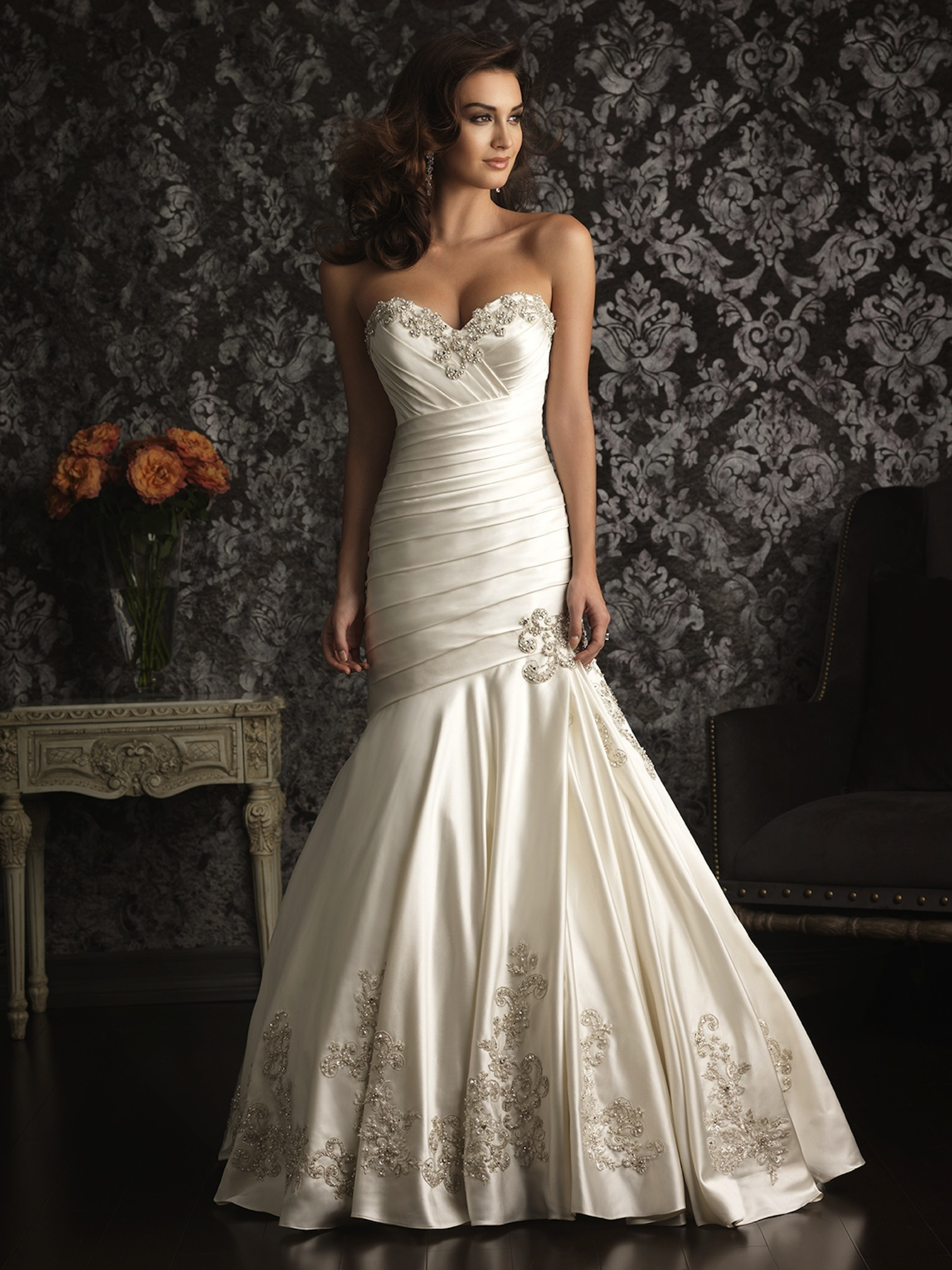 Allure Bridals Wedding Dress Bridal Gown 2013 Allure Collection 9024