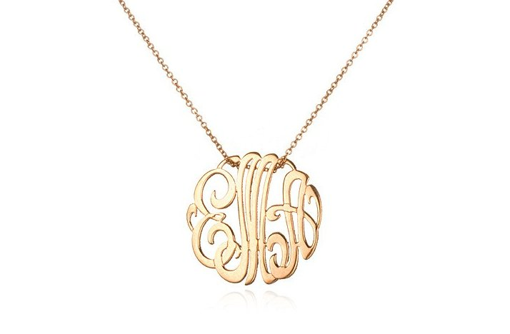 Lacy Monogram Wedding Necklace
